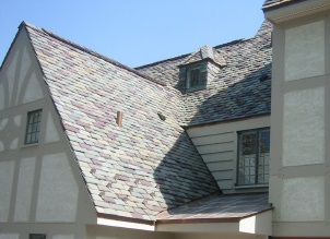 sloped slate roof